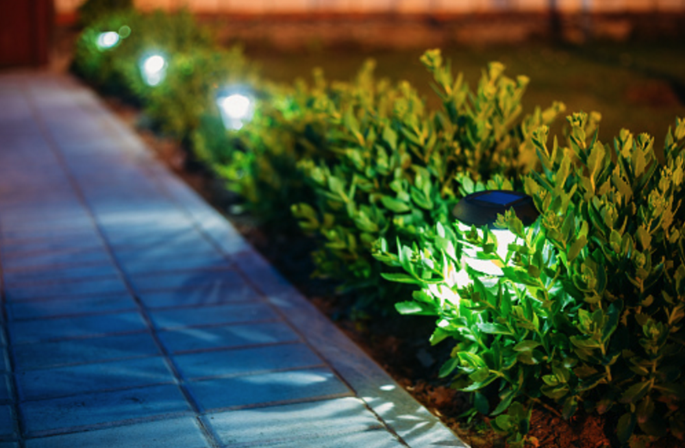 Commercial landscaping in Hudson Valley, NY, including landscape lighting