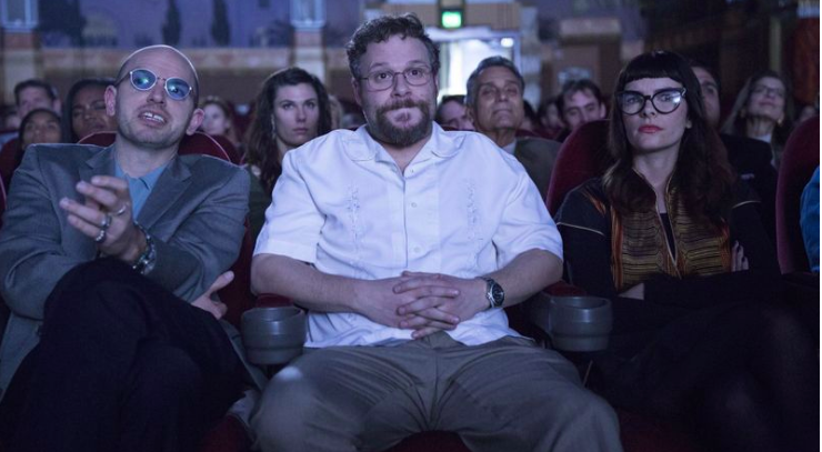 """Paul Scheer with Seth Rogen in """"The Disaster Artist."""" (Justina Mintz / A24)"""