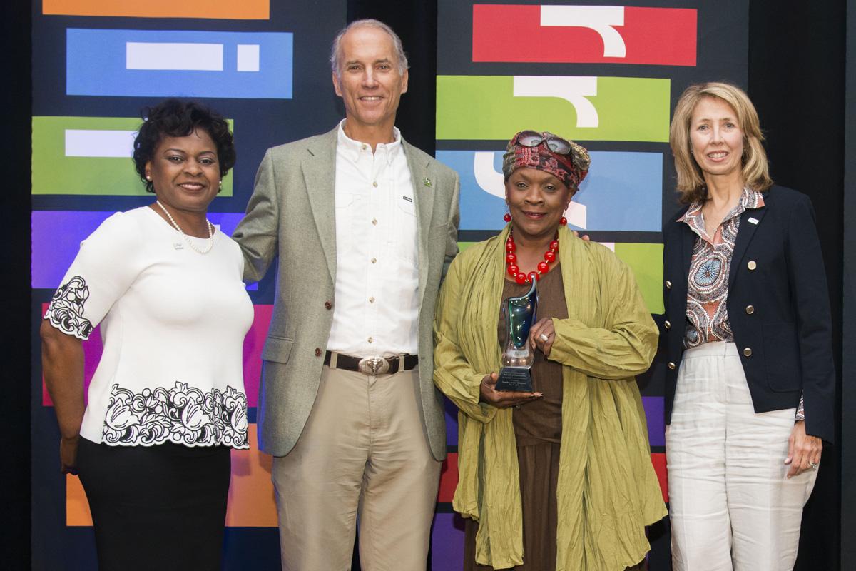 (Left to right) Joyce Powdrill, Thane Maynard, Sandra Jones Mitchell and Beth Robinson pose for the Avondale Community Champion Award.