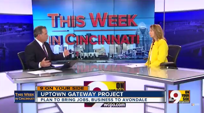 "WCPO interviews Beth Robinson, President and CEO of Uptown Consortium, about the Uptown Innovation Corridor on ""This Week in Cincinnati."""
