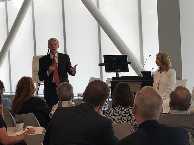 Senator Rob Portman at Uptown Consortium's Opportunity Zones Roundtable.