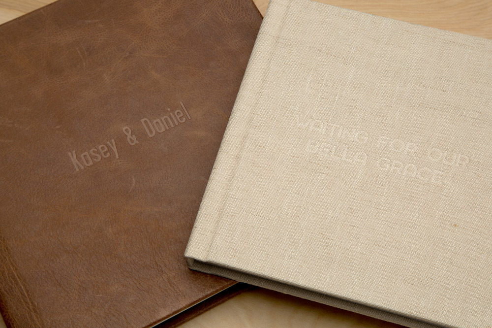 Your choice of genuine bonded water resistant leather or linen cover.