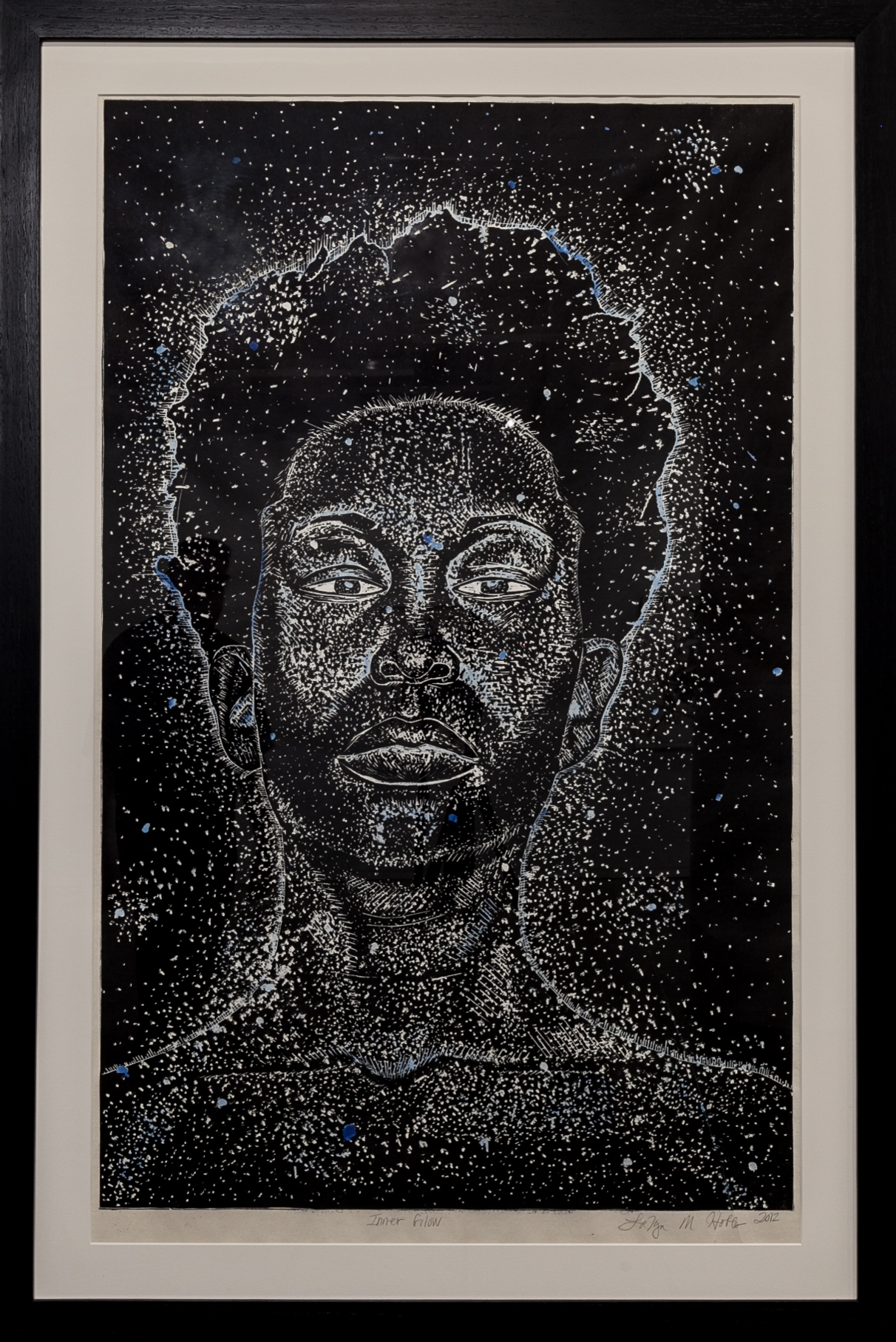 LaToya M. Hobbs   Inner Glow , 2012  Medium: Woodcut on paper  Dimensions: 50x34 inches