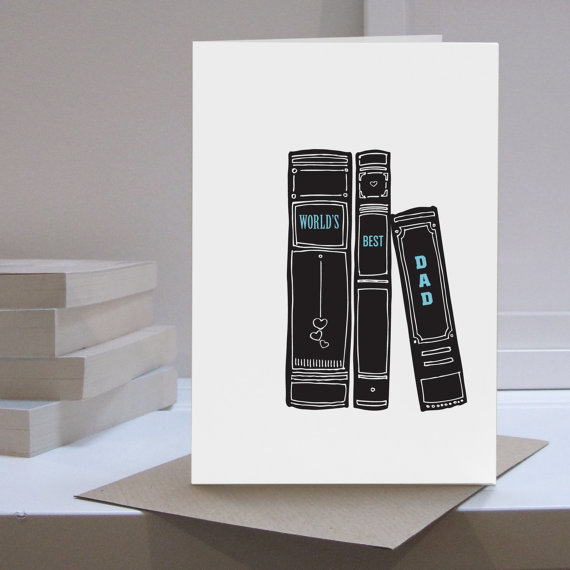 Lounge Books - Etsy - Fathers Day card