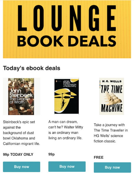 Lounge Books - Book Deals email2