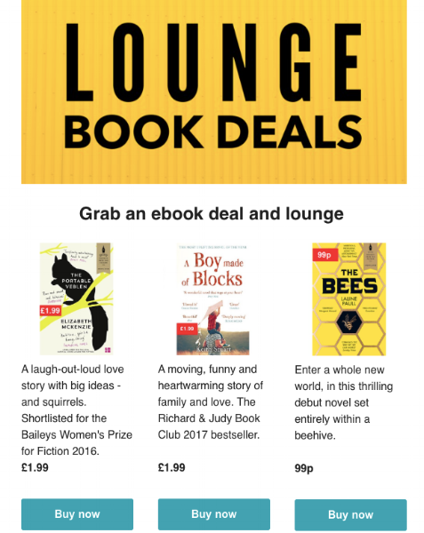 Lounge books - Book deals email