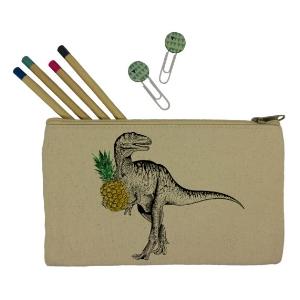 Dinosaur canvas pencil case  £11.60