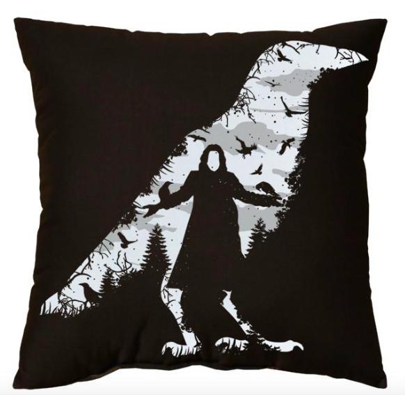 LB - Image - Horror Lounge - Horror Merch - Crow Pillow.png