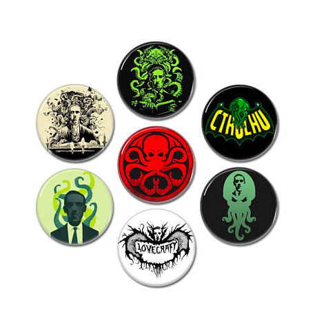 LB - Image - Horror Lounge - Merch - HP Lovecraft buttons sets.png