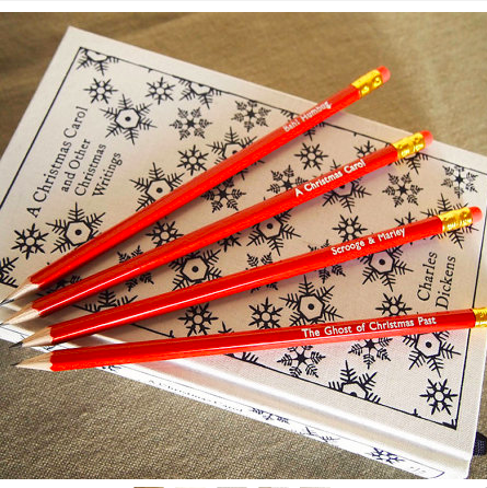 Christmas Carol pencil set    £6.00