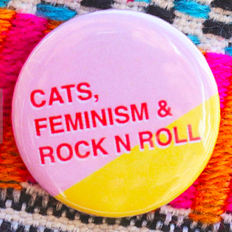 Cat & Feminist Badge    £1.50