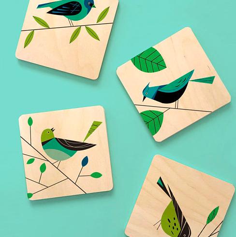 Bird Lovers Coaster Set £15.51