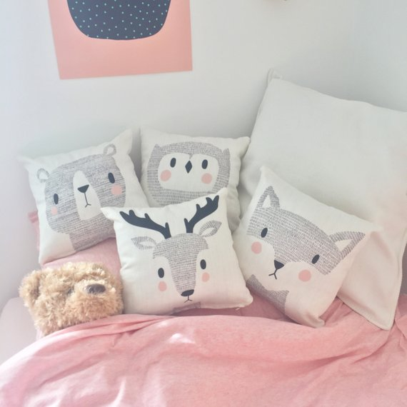 Woodland Animal Cushion - Baby Gift Idea    £20.00+