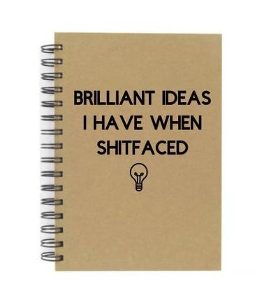 Shitfaced notebook    £6.99