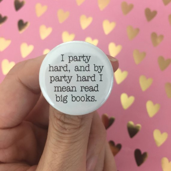 Party Badge for book-lovers    £1.61