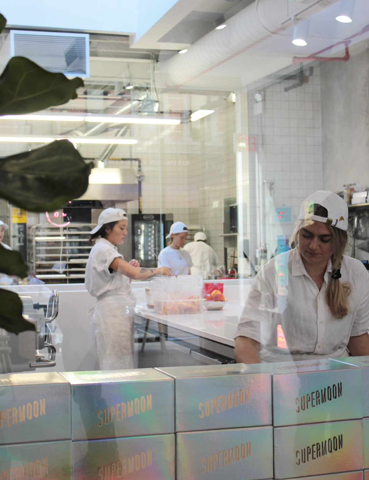 Supermoon kitchen staff wearing Dashiel Brahmann Chef shirt, Apron and Front of house uniform.