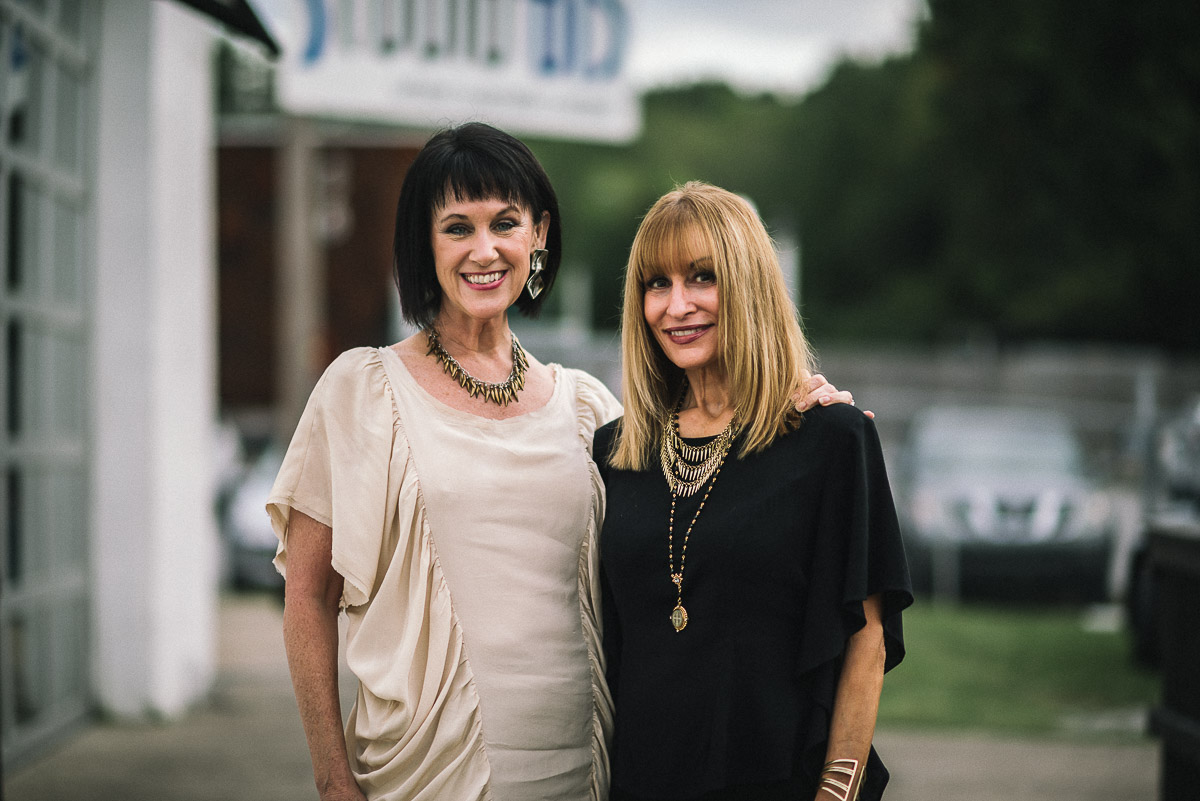 Nashville Fashion Week co-founder, Connie Cathart Richardson and Stacy Rhodes of Stacy Rhodes boutique shot by Snappylifestyle