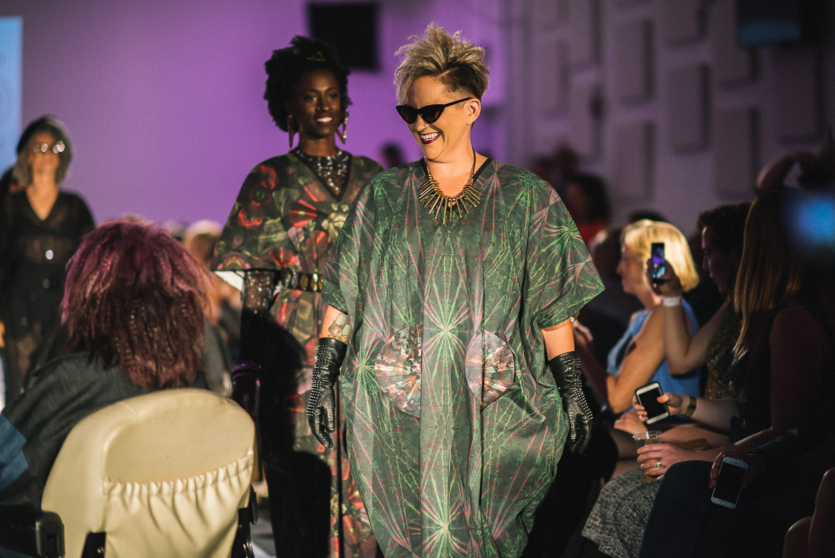 Final runway walk for Black by Maria Silver shot by Snappylifestyle  Models featured Alicia Searcy, Annette McNamara and Tamara Marshall