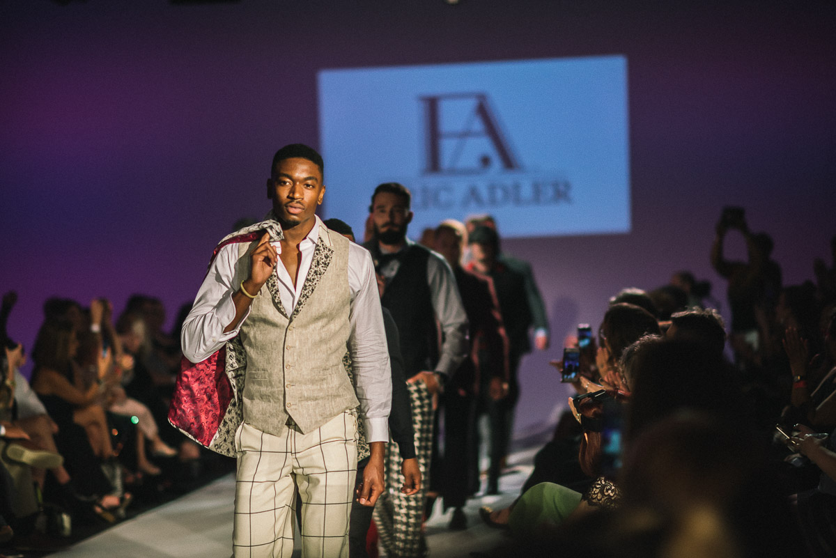 Finale walk for Eric Adler Clothing shot by Snappylifestyle     Models pictured  Courtney Brown and Ryan Fowler