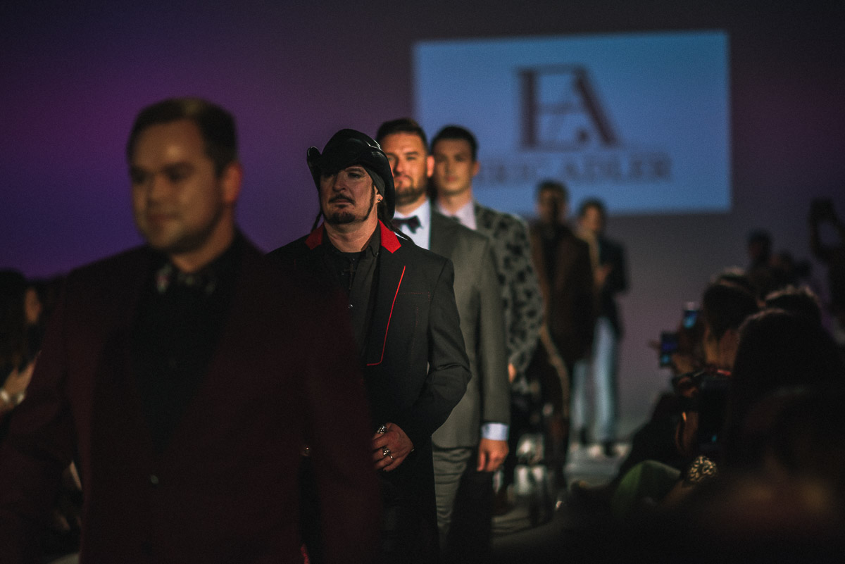 Finale walk for Eric Adler Clothing shot by Snappylifestyle    Models pictured Adam Stahurra, Rhodes D'able,  and Brandon Brown