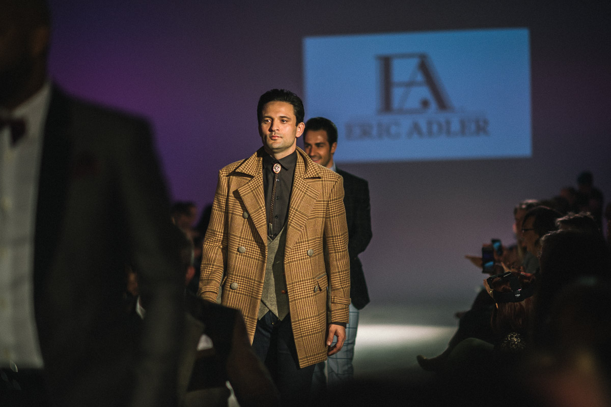 Finale walk for Eric Adler Clothing shot by Snappylifestyle    Model Pictured Danny Manning and Designer Erica Adler of Eric Adler Clothing