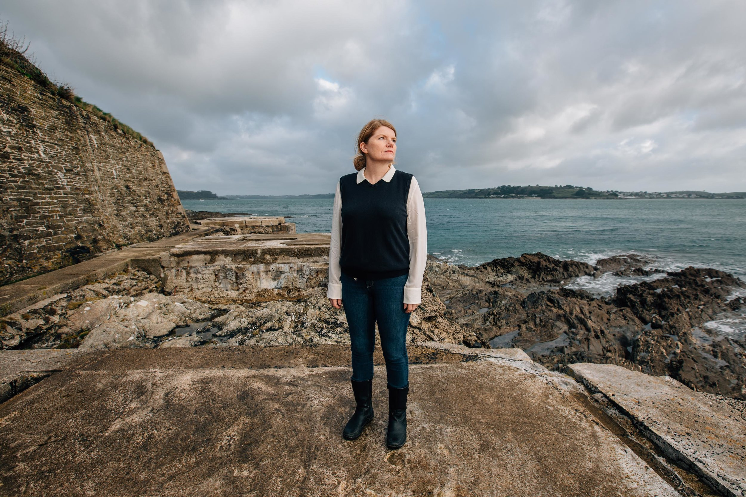 Portrait of Cathy Rentzenbrink, whose brother spent eight years in a vegetative state before the courts permitted him to have all food and water withdrawn, pictured in Falmouth, Cornwall, where she lives with her family. 9th Dec 2018.
