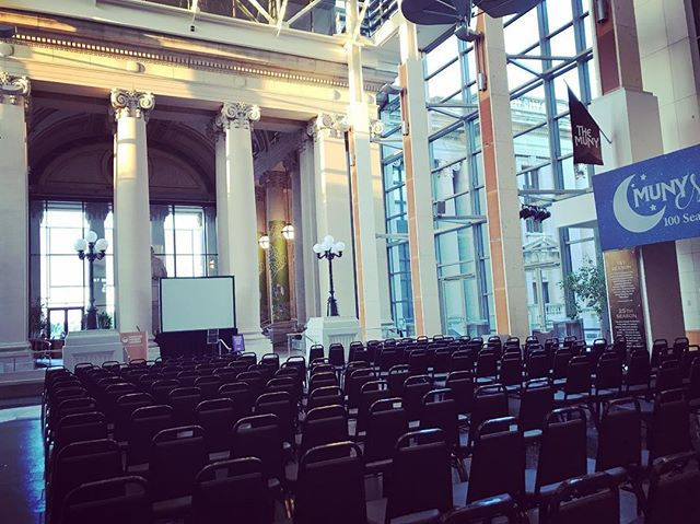 Hoping to fill these seats tonight @mohistorymuseum . Cool spot!