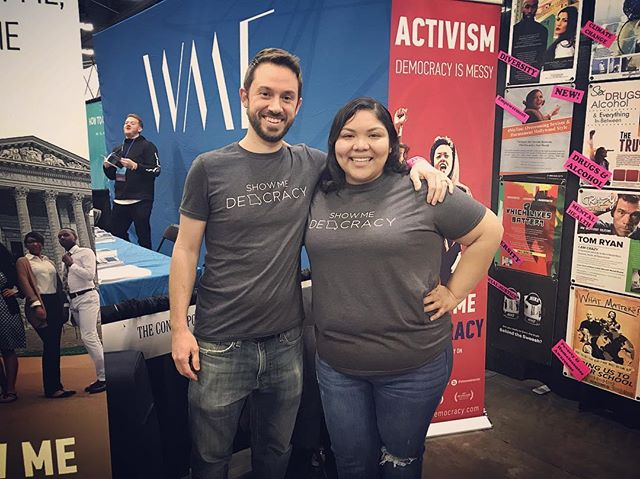 Karina & Dan showcasing Show Me Democracy at #NACA19 tomorrow! Sharing the film with over 300 college student activities groups. #nothingaboutmewithoutme