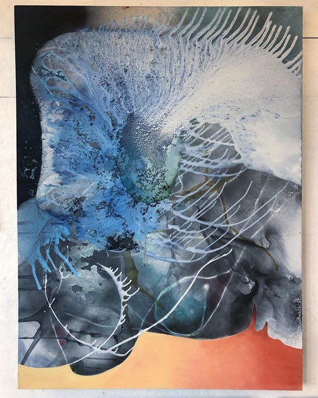 """Beauty and Power"" opens tomorrow at The Laffer Gallery 🌞@thelaffergallery . . . . . . . . . . . . . #contemporarypainting #abstractart #studioartist #contemporaryart #studio #gallery #artgallery #abstract #art #painting #abstractpainting #fineart #mixedmedia #artist #upstatenewyork #thelaffergallery #newyork"