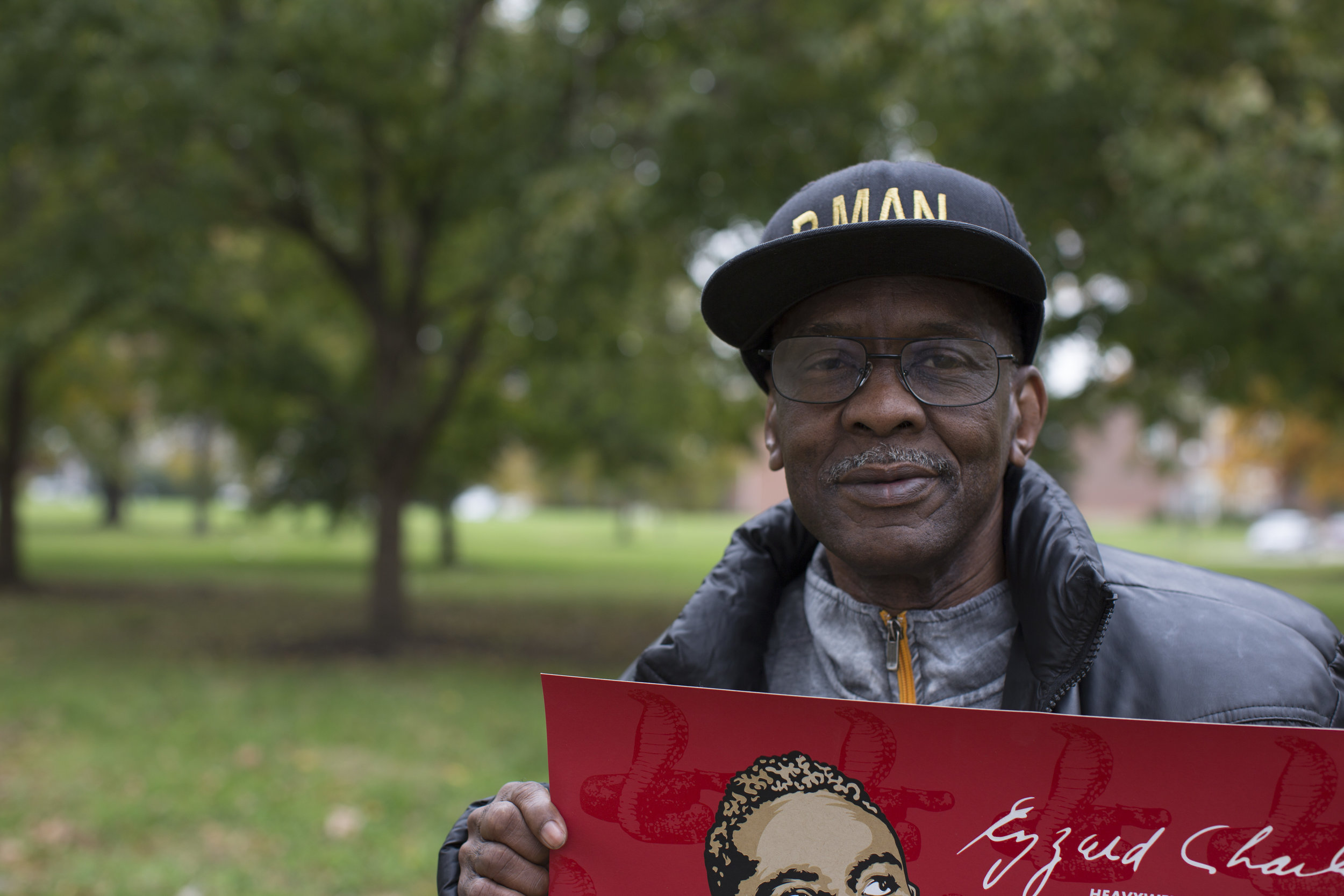 """Daryl 'P Man' Jones, an incredible boxer, supporter of Cincinnati boxing, coach, and all around """"man-to-know, and look up-too"""" at Laurel Park, West End, Photo By Kailah Ware"""