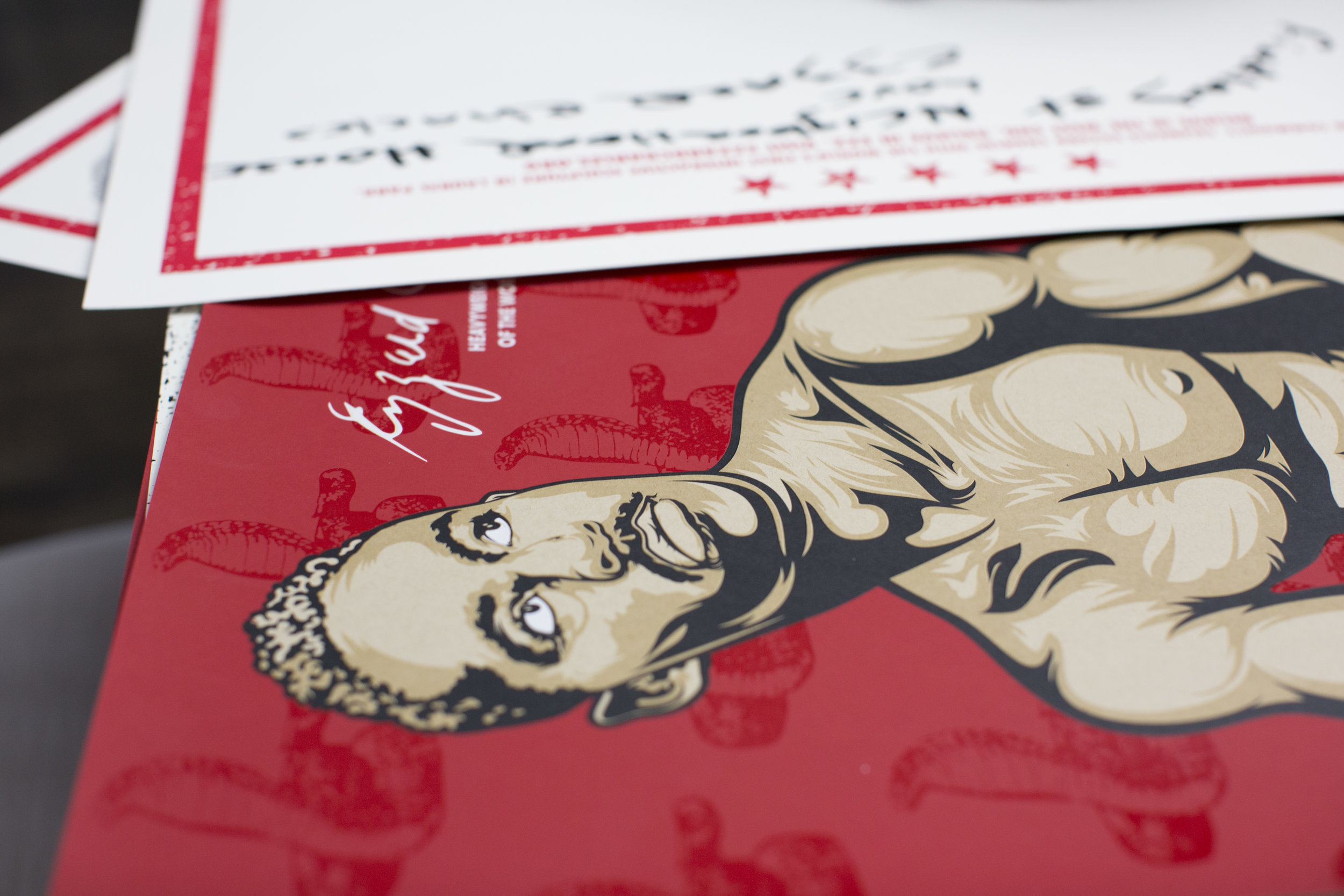Ezzard Charles poster prints designed and printed by We Have Become Vikings, photo by Kailah Ware