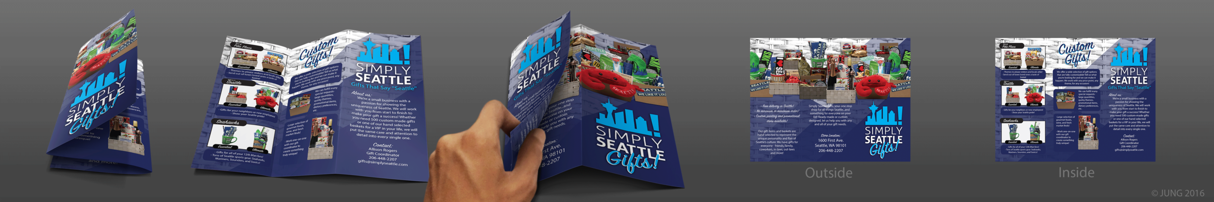 Simply Seattle Gift Basket Informational Brochure