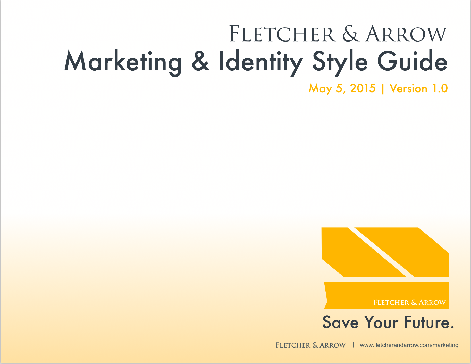 CLICK    to scroll through Fletcher & Arrow Style Guide