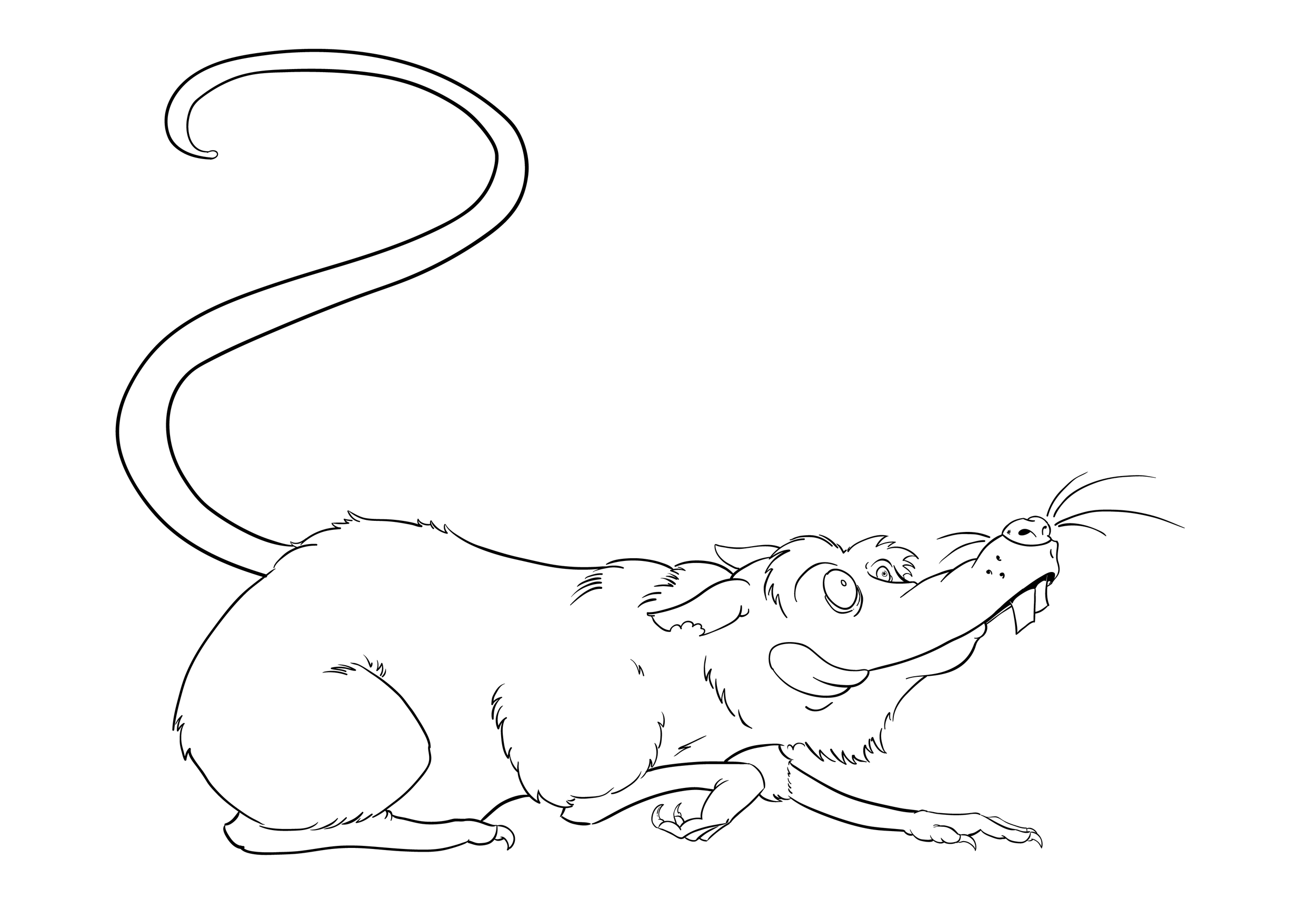 Crouching Ratt ink process