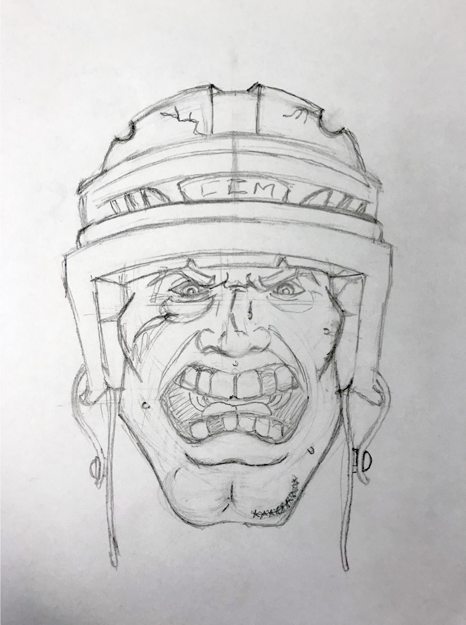 Hockey Guy Sketch