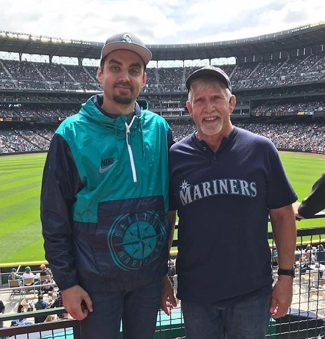 Fitting in one more ball game with the old man. @stevecjung  #whatsthatsmell #itsthemariners #theystink