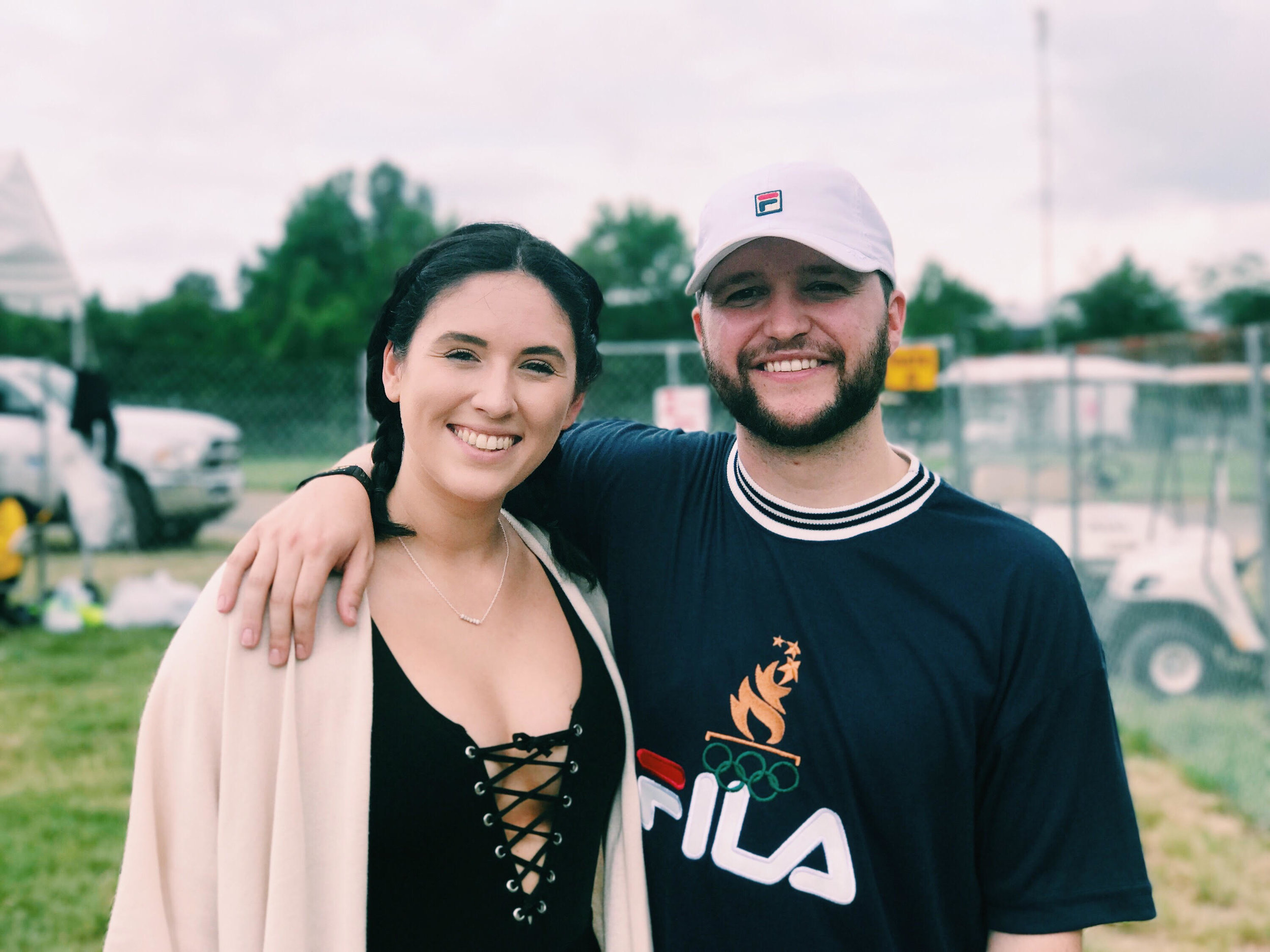 Cassidy Kotyla and Michigan singer and producer Quinn XCII at Firefly Music Festival 2017 in Dover, Delaware.