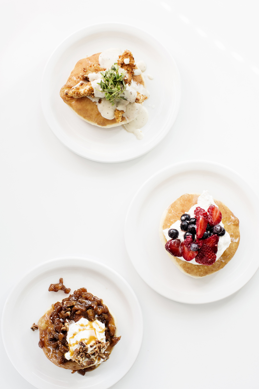 Pancakes with various toppings | Hi-Lo Diner | The Restaurant Project