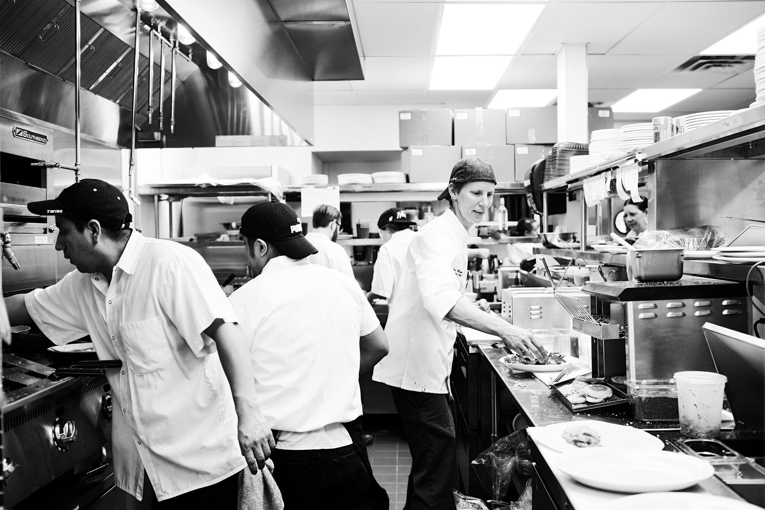The bustling kitchen | Hi-Lo Diner | The Restaurant Project