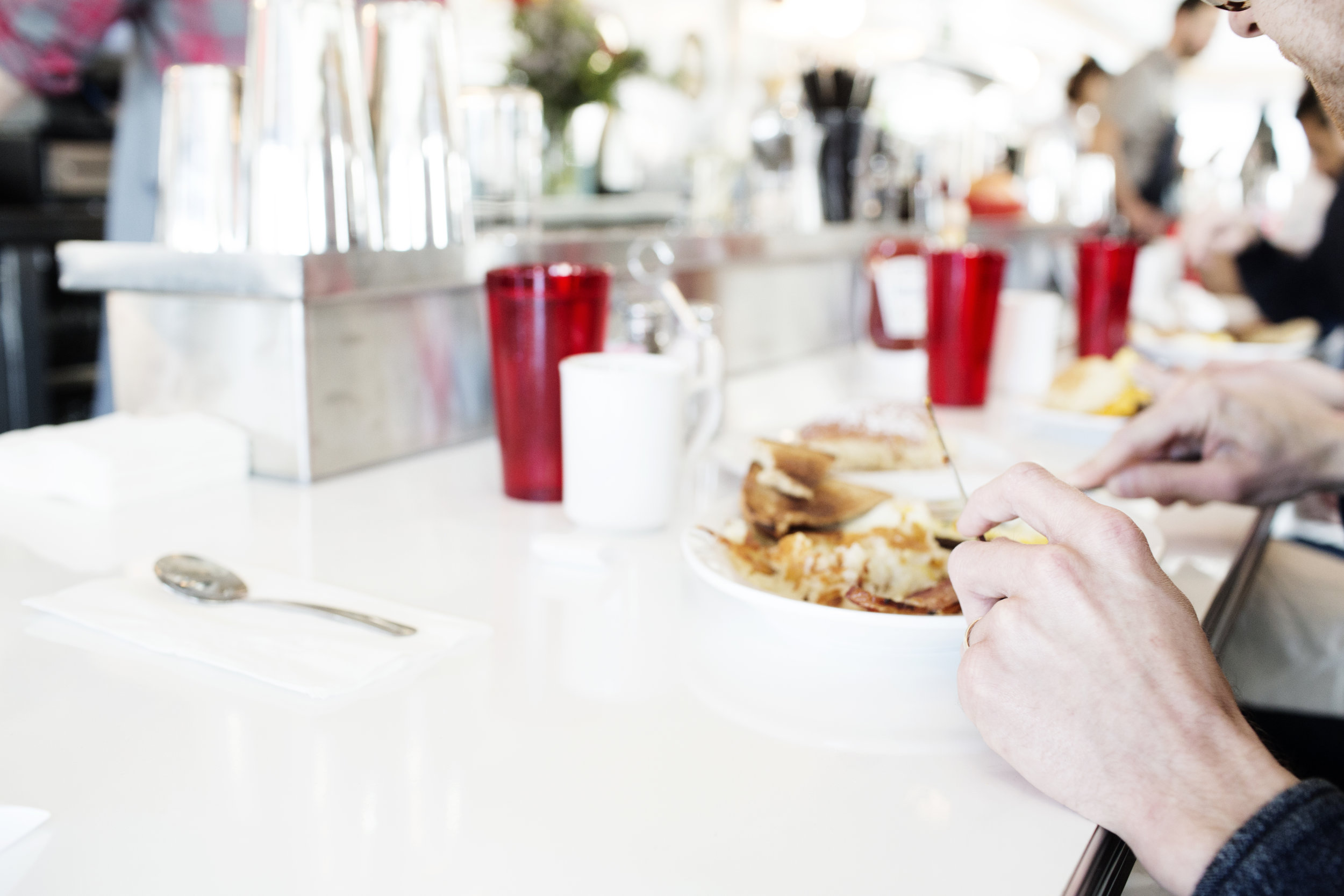 A diner at the counter | Hi-Lo Diner | The Restaurant Project