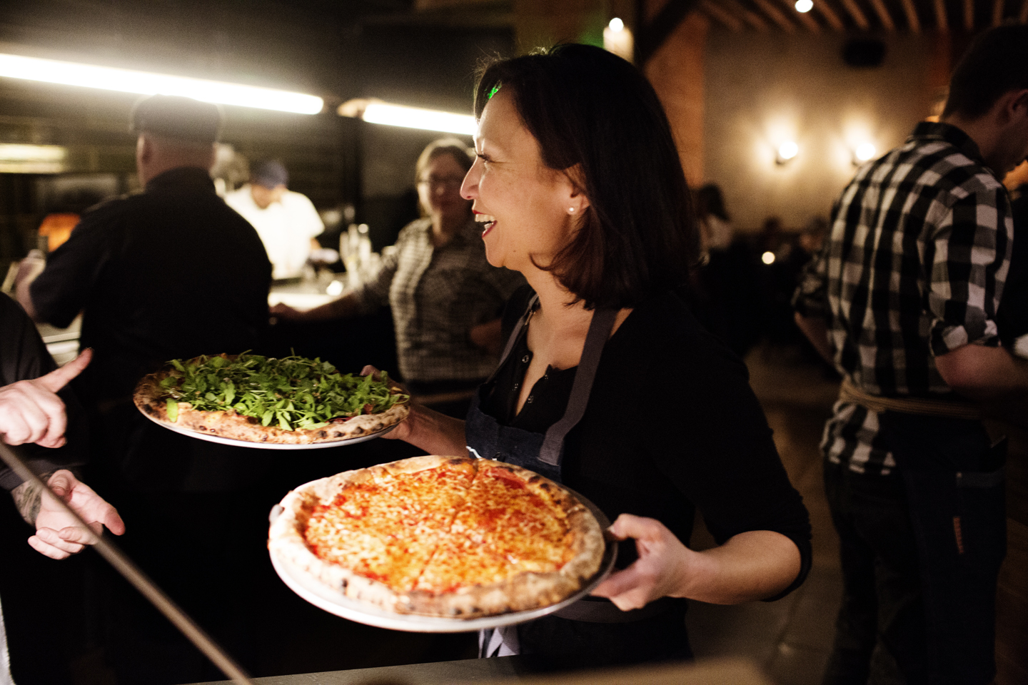 Chef/owner Ann Kim serving pizzas | Young Joni | The Restaurant Project
