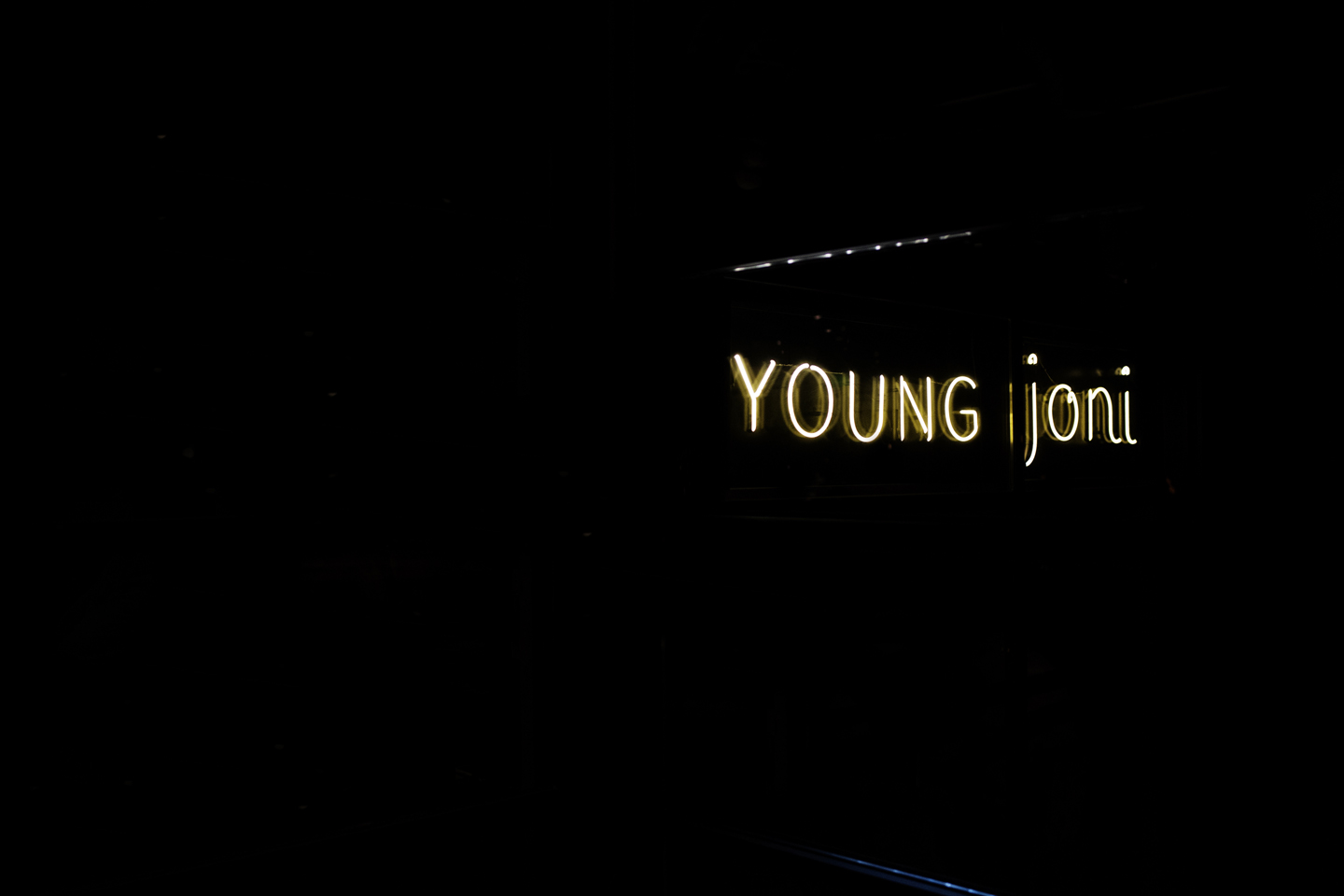 Young Joni neon sign | The Restaurant Project