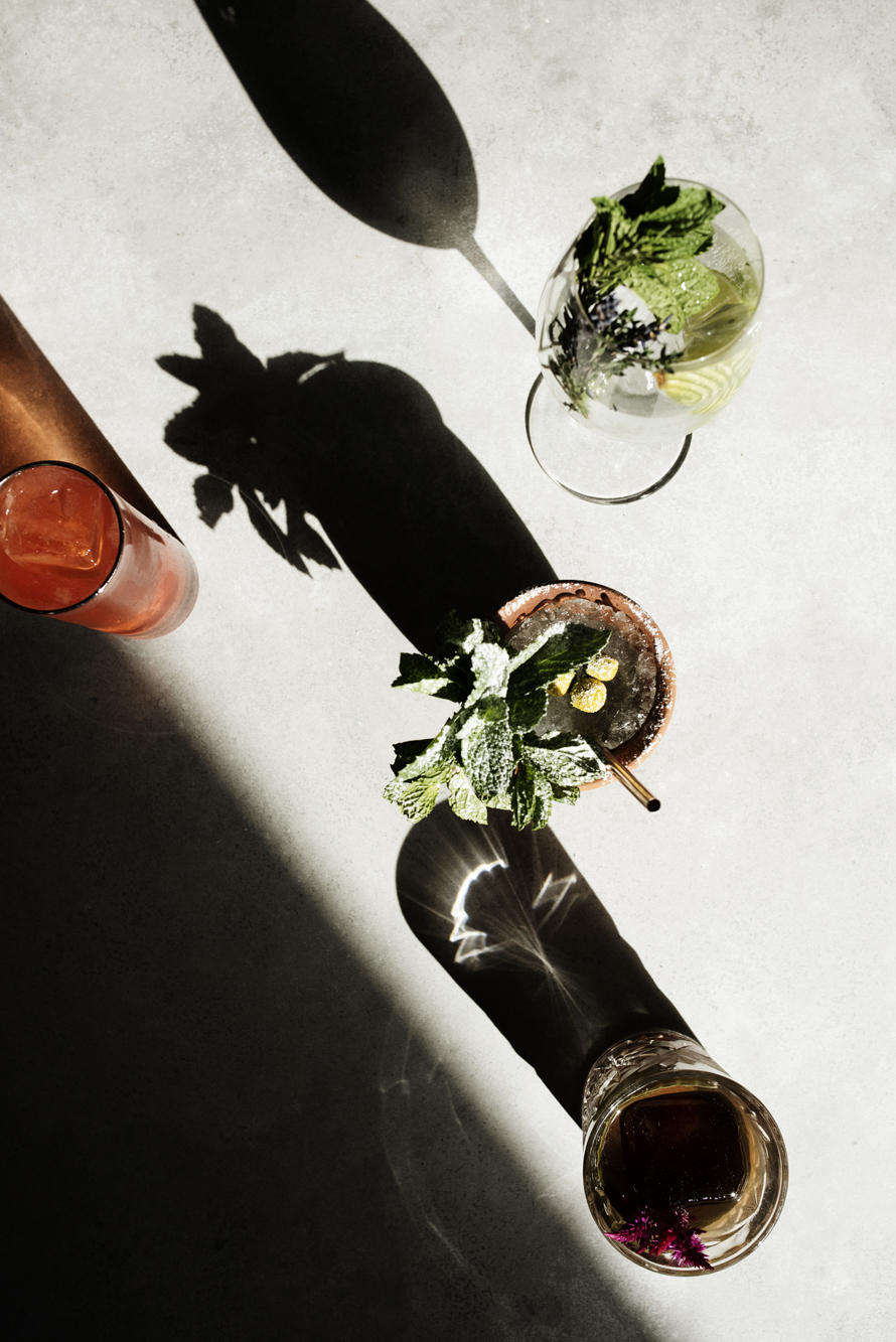 Cocktails from overhead | Martina | The Restaurant Project