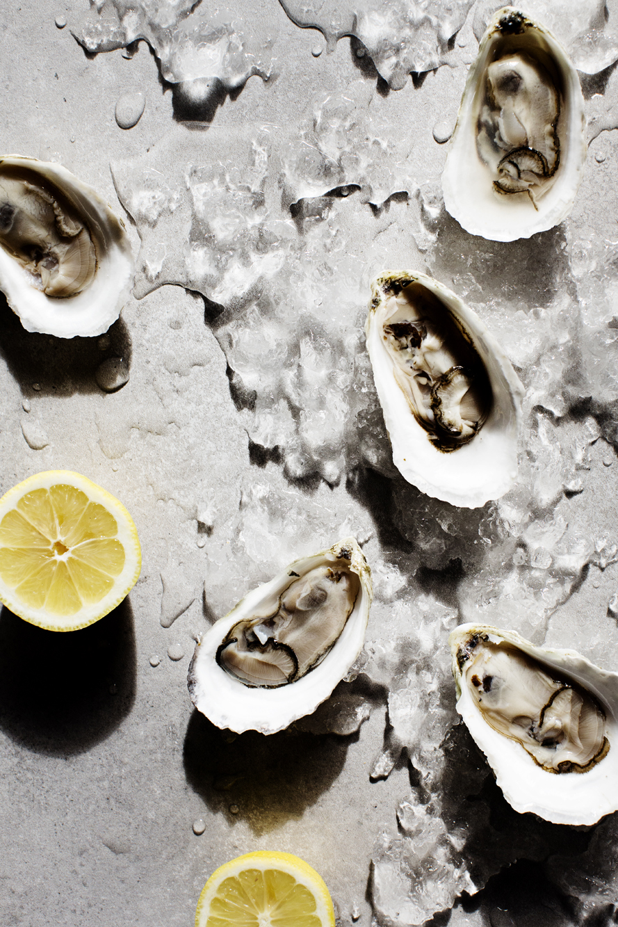 Oysters on the half shell with lemon | Martina | The Restaurant Project