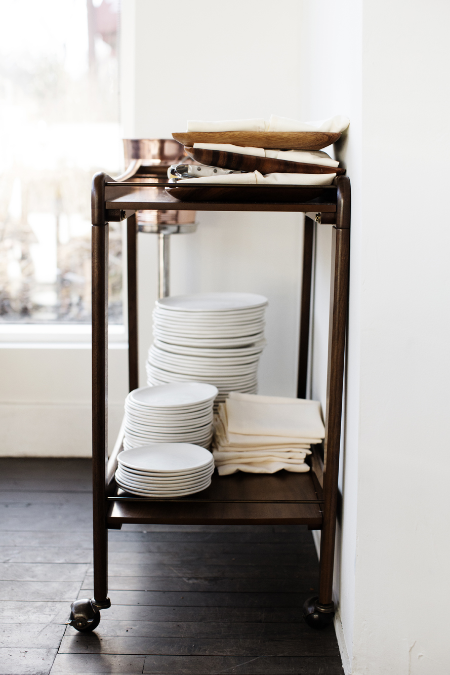 Cart with serving ware | Martina | The Restaurant Project