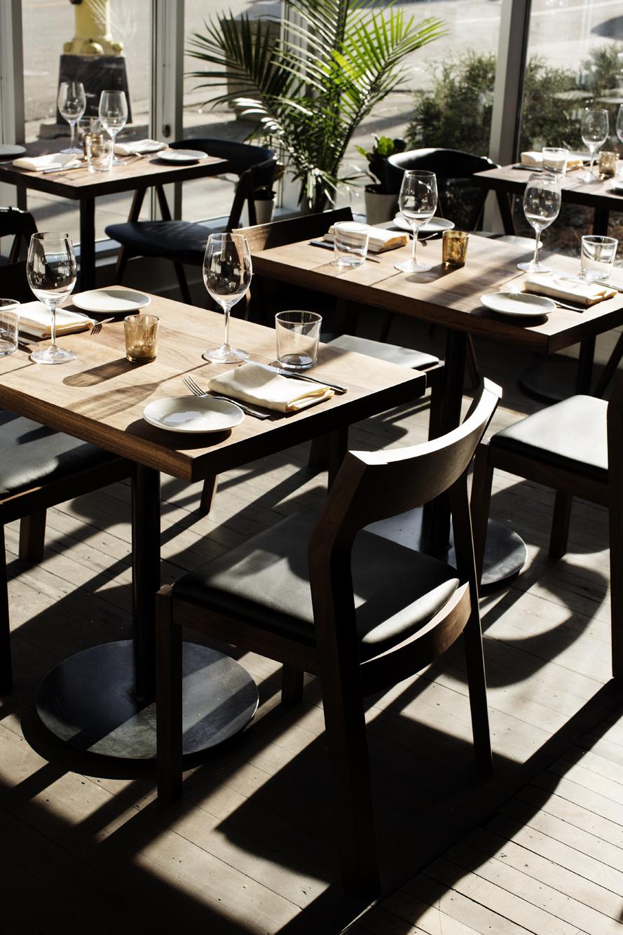 Dinner tables in sunlight | Martina | The Restaurant Project