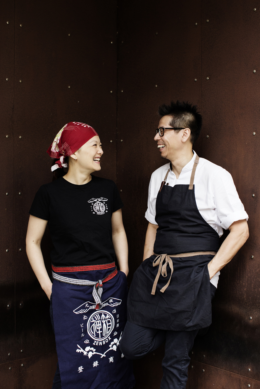 General Manager Lina Goh and Chef John Ng | Zen Box Izakaya | The Restaurant Project