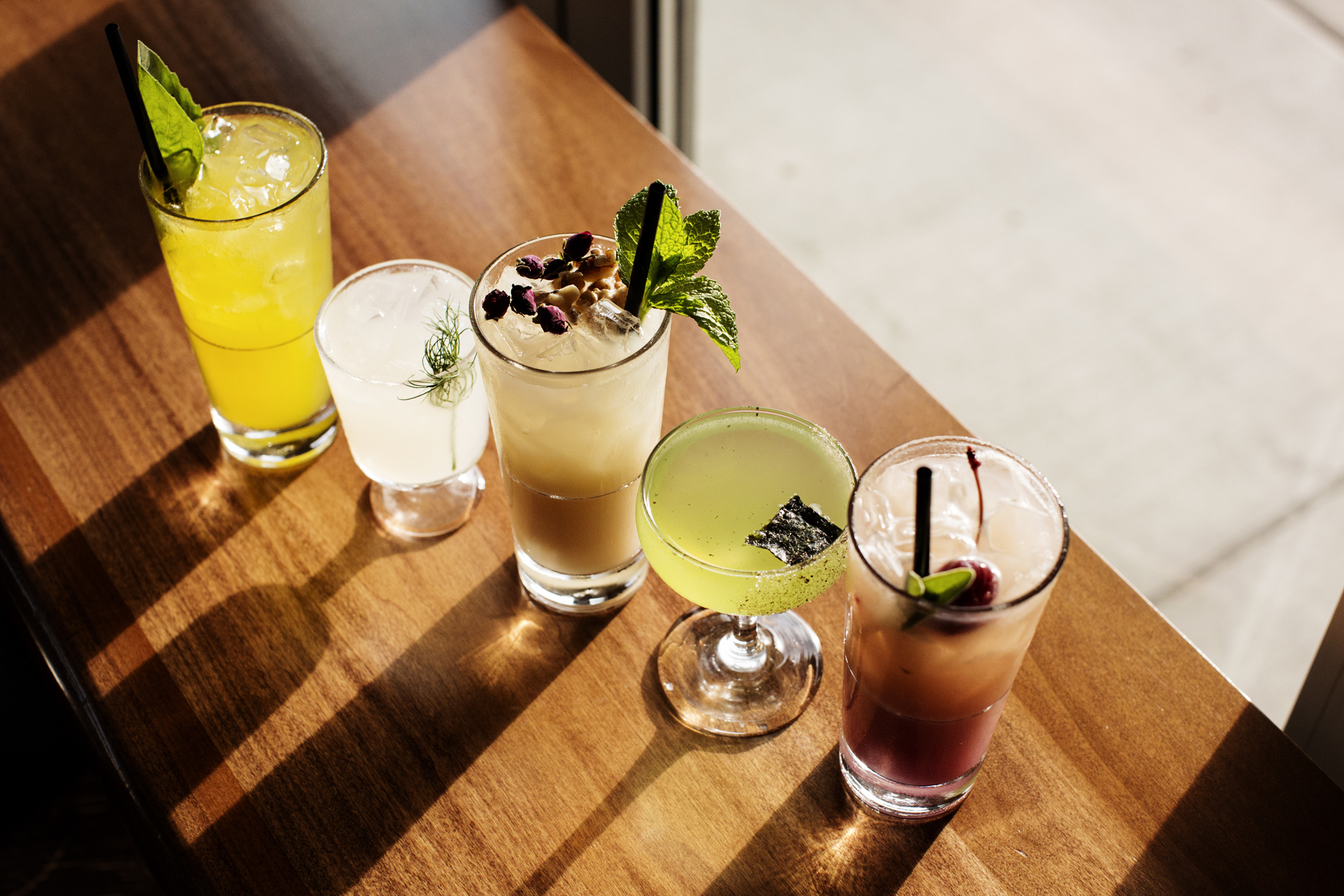 A lineup of cocktails at Zen Box Izakaya | The Restaurant Project