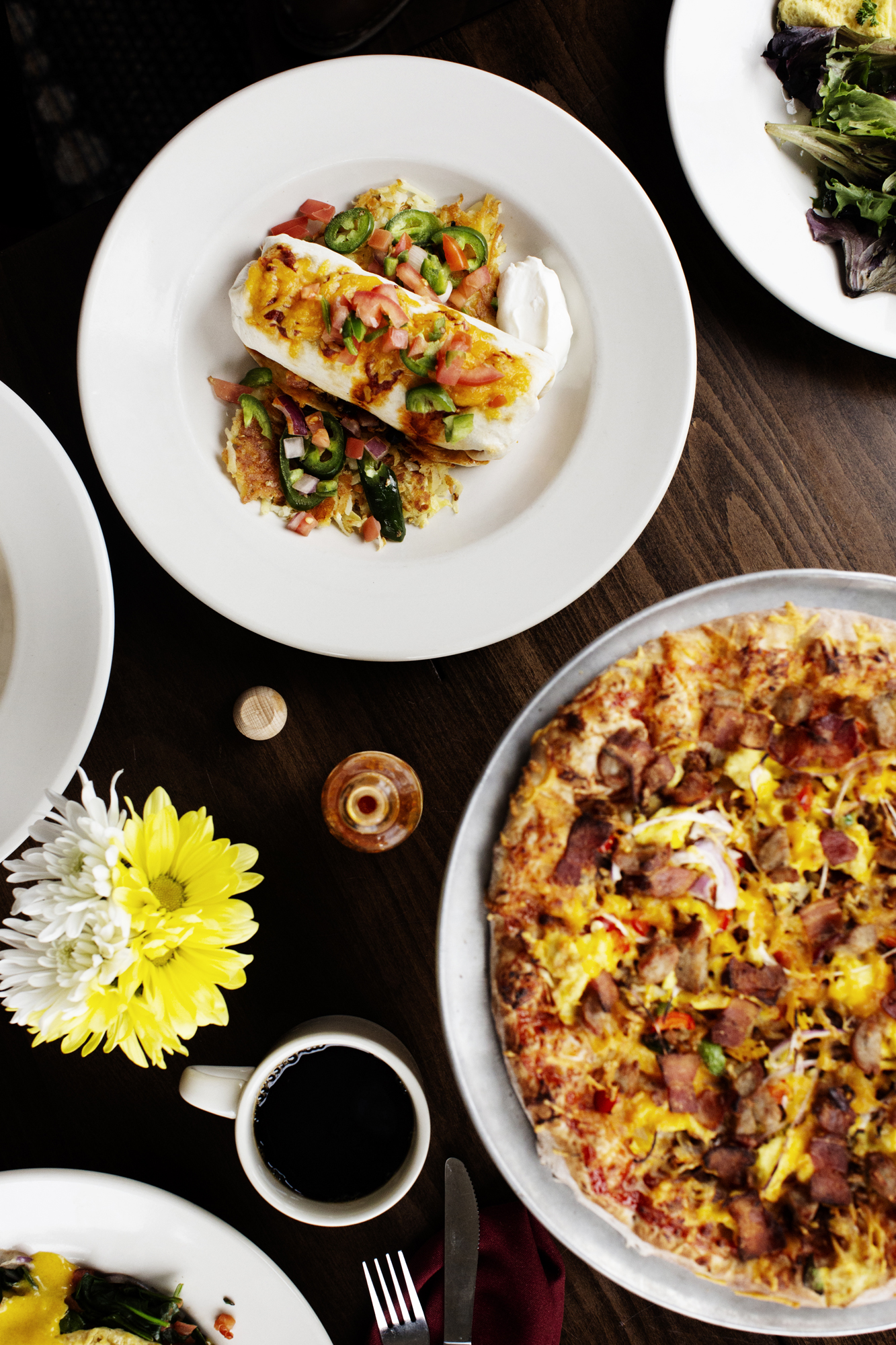 Breakfast Pizza and Brunch Burrito | Pizza Lucé | The Restaurant Project