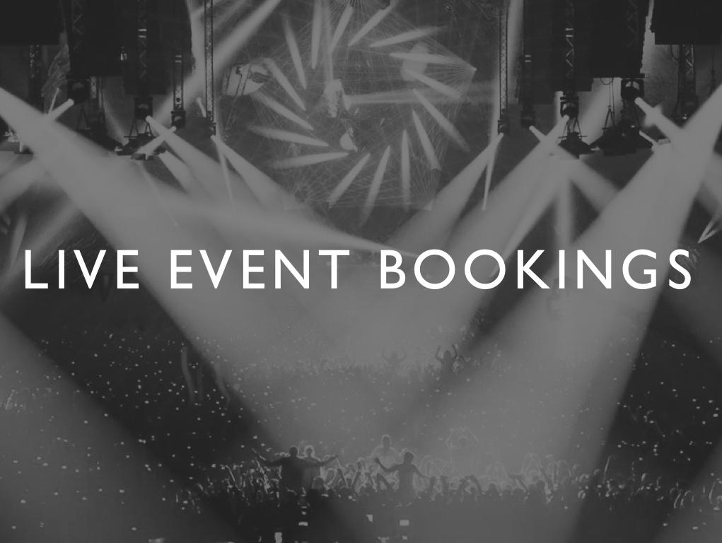 WAV/E: Live Event Bookings